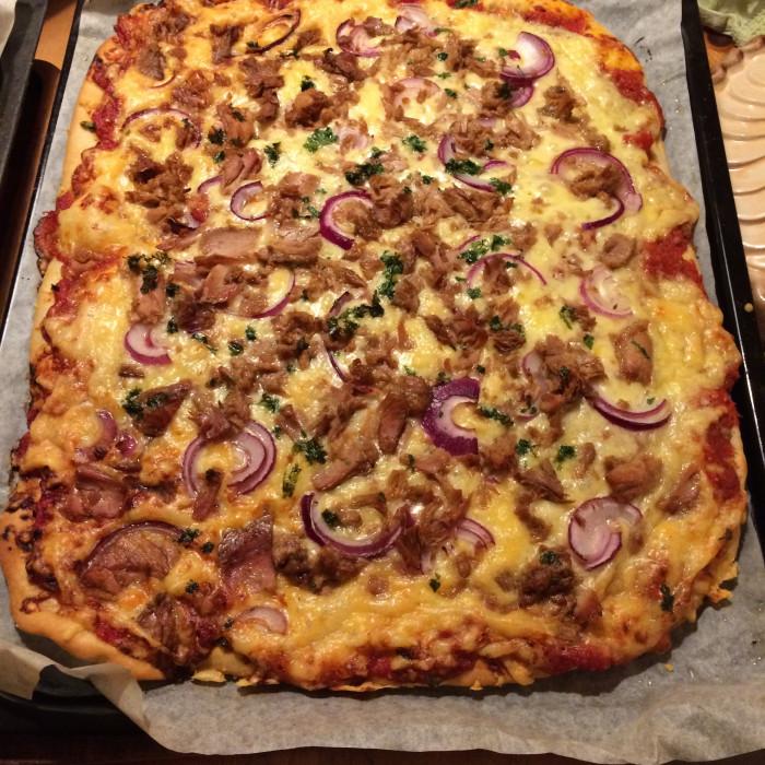 hemmagjord pizza pålägg